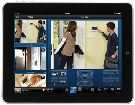 Tablet with access to security app for burglar alarms in Los Angeles CA