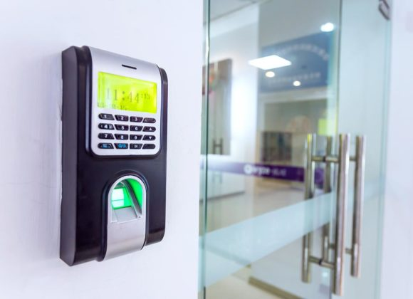 Keypad on wall for Access Control Systems in Long Beach CA