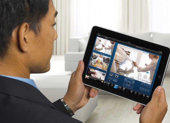 Monitor your security system from an app on your tablet in Los Angeles, CA