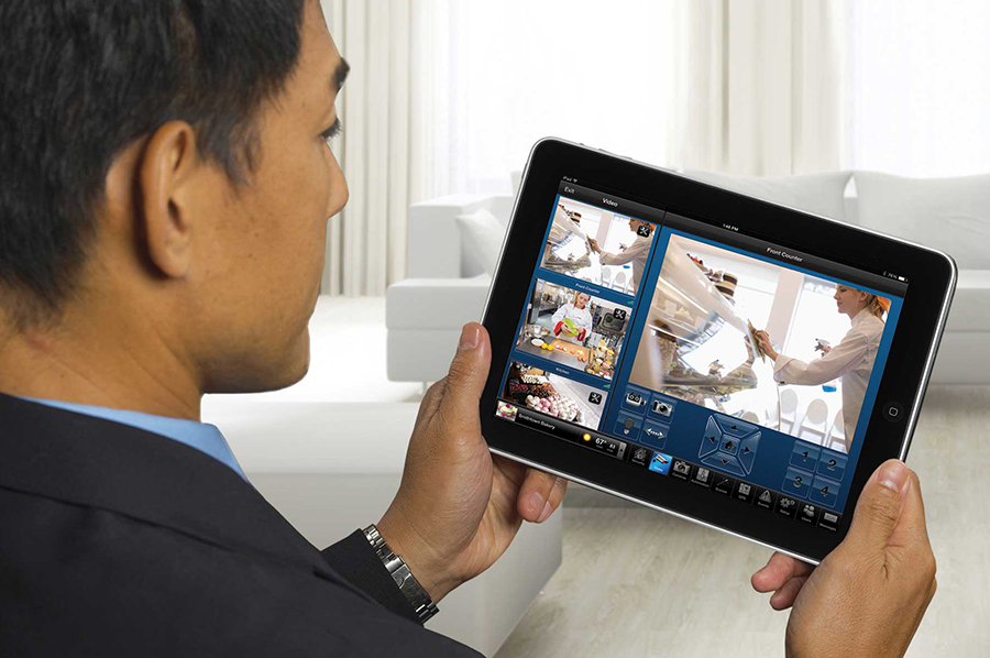 Use a mobile device to check your commercial security systems